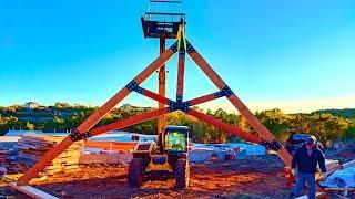 House Build Ep.1; Huge Scissor Truss Fabrication