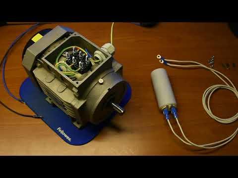 Convertire Motori Trifase 380v In Monofase 220v Youtube