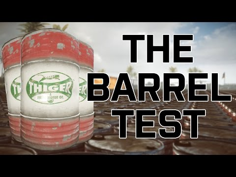 The 'Shitload of Exploding Barrels' Test in Frostbite 3