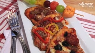 Personal Flat Bread Pizza With Fresh Fruit Skewers - Dinner Boot Camp - Episode 3