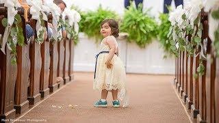 Cancer survivor is flower girl at bone marrow donor's wedding