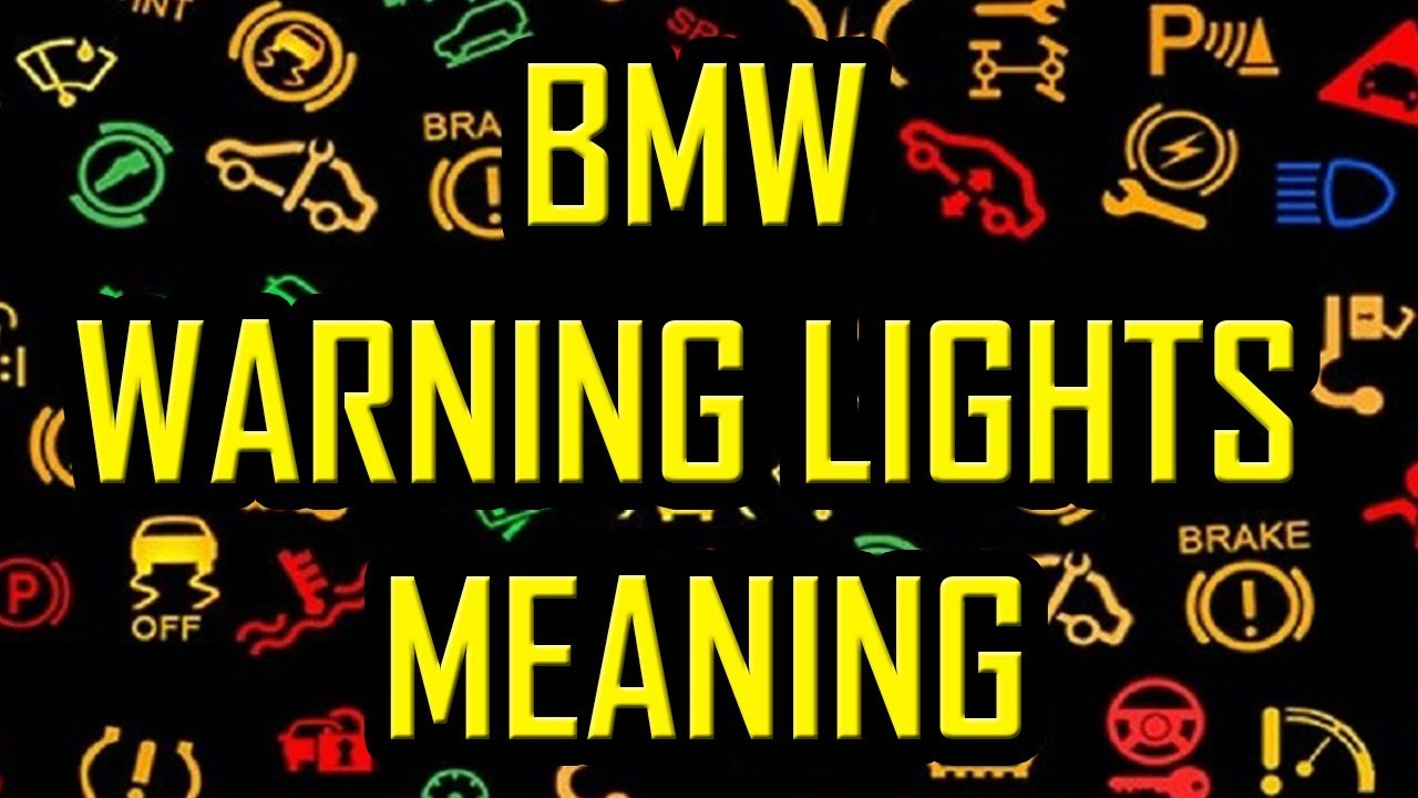 bmw warning lights meaning [ 1280 x 720 Pixel ]