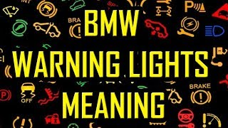 Bmw Warning Lights Meaning Youtube