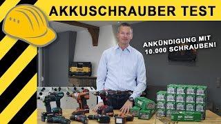 AKKUSCHRAUBER TEST & VERGLEICH | BOSCH, MAKITA, METABO, FEIN, FESTOOL... & 10.000 SPAX SCHRAUBEN