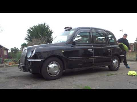 Waterless car cab wash, London taxi, black cab in under 10 minutes