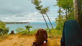 Dispersed Camping Off-Grid iฑ Michigan's Upper Peninsula [Pictured Rocks]