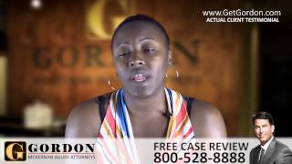 Seizure Causes Car Accident | Real Client - Tamika Simien | Gordon McKernan Injury Attorneys
