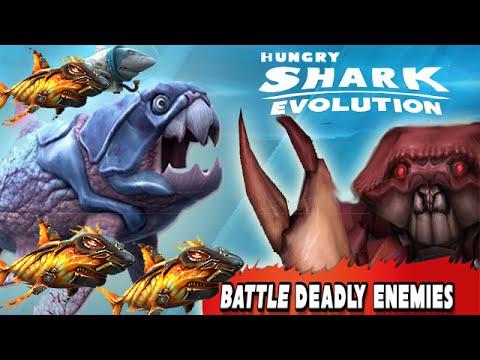 Hungry shark evolution megalodon vs giant crab - photo#29
