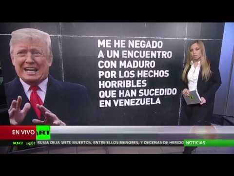 """Trump: La intervención militar en Venezuela es una """"opción"""""""