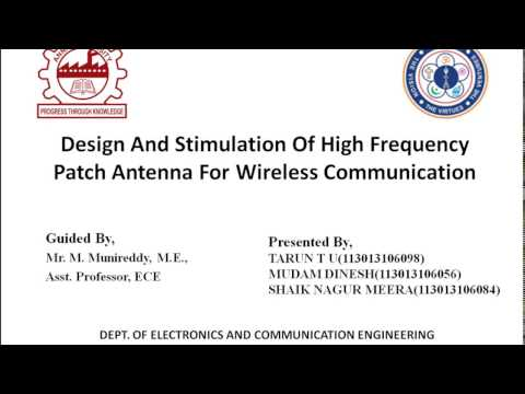 Design and Stimulation of High Frequency Patch Antenna for Wireless Communication