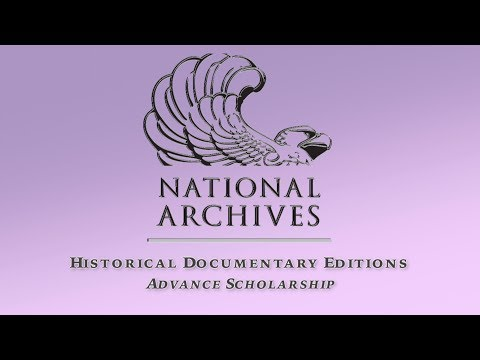 Historical Documentary Editions Advance Scholarship (2 of 4)