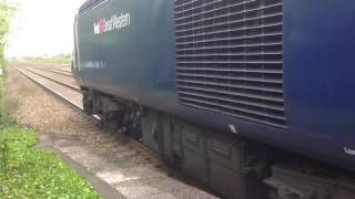 FGW class 43 departs Highbridge with something wrong with the engine