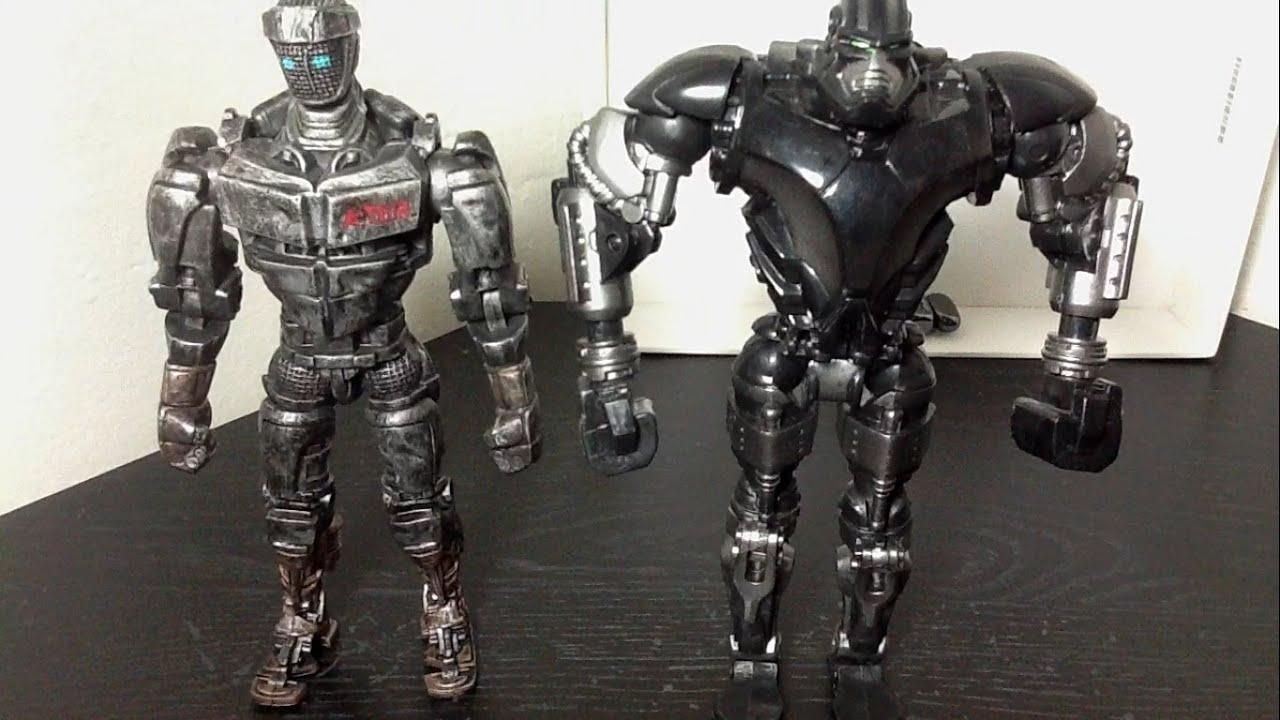 real steel 2-pack atom vs. zeus figure review - youtube