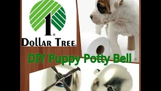 Dollar Tree DIY - Puppy Potty Bell - Potty Training Tool