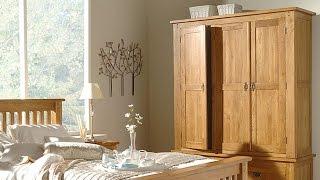 Rustic Oak Triple Wardrobe - PineSolutions