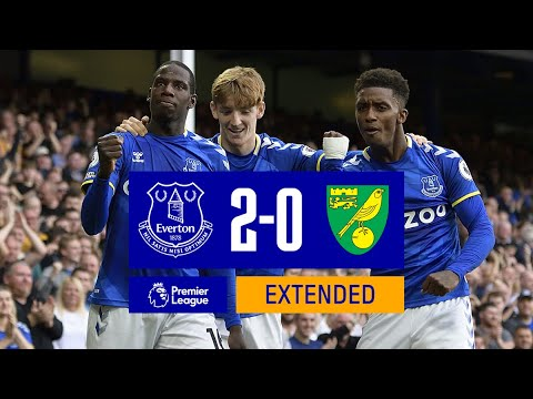 EXTENDED HIGHLIGHTS: EVERTON 2-0 NORWICH CITY