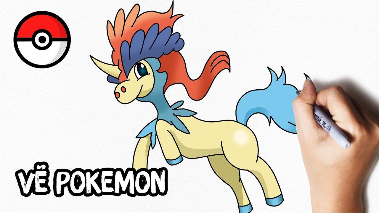 Cách Vẽ Pokemon Huyền Thoại Keldeo Dễ Nhất | How To Draw Pokemon Keldeo Step By Step
