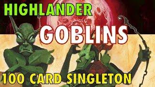 mtg goblin raiders a guide to highlander goblins 100 card singleton for magic the gathering