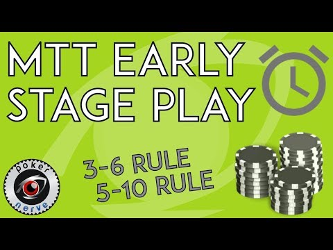Early Stage Play in Poker Tournaments | Sizzlers | PokerNerve.com