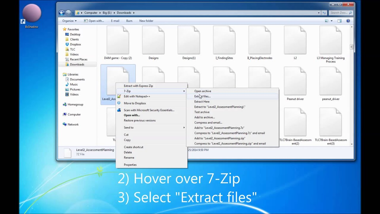 Extracting Compressed  zip or  7z Files