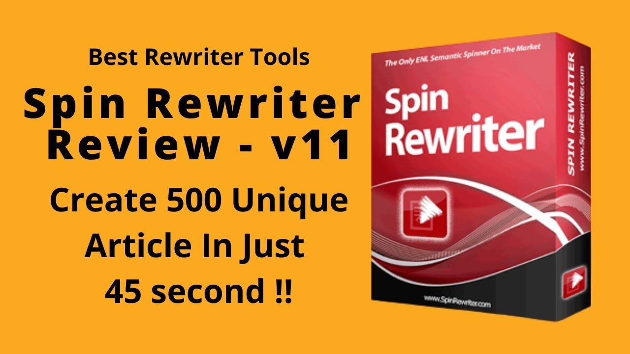 Spin Rewriter 5.0 Review & Bonuses – Best Article Spinning ...