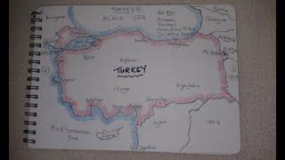 ASMR - Map of Turkey - Australian Accent - Chewing Gum & Des...