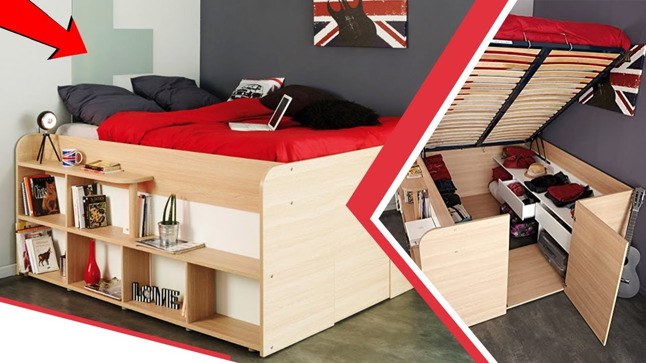 INCREDIBLE BEDROOM AND SPACE SAVING FURNITURE FOR SMALL SPACES