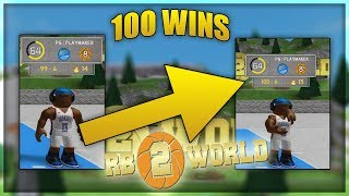 I HIT 100 WINS ON WEST SIDE PARK - ROBLOX RB World 2 Gameplay