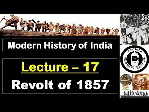 H17 : Revolt of 1857 || SSC CGL, SSC CHSL, RAILWAYS, UPSC, UPPCS, CAPF SI/ASI, UPSSC, BPSC, JPSC etc