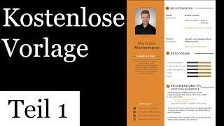Design Lebenslauf Vorlage Kostenlos Anleitung Teil 1