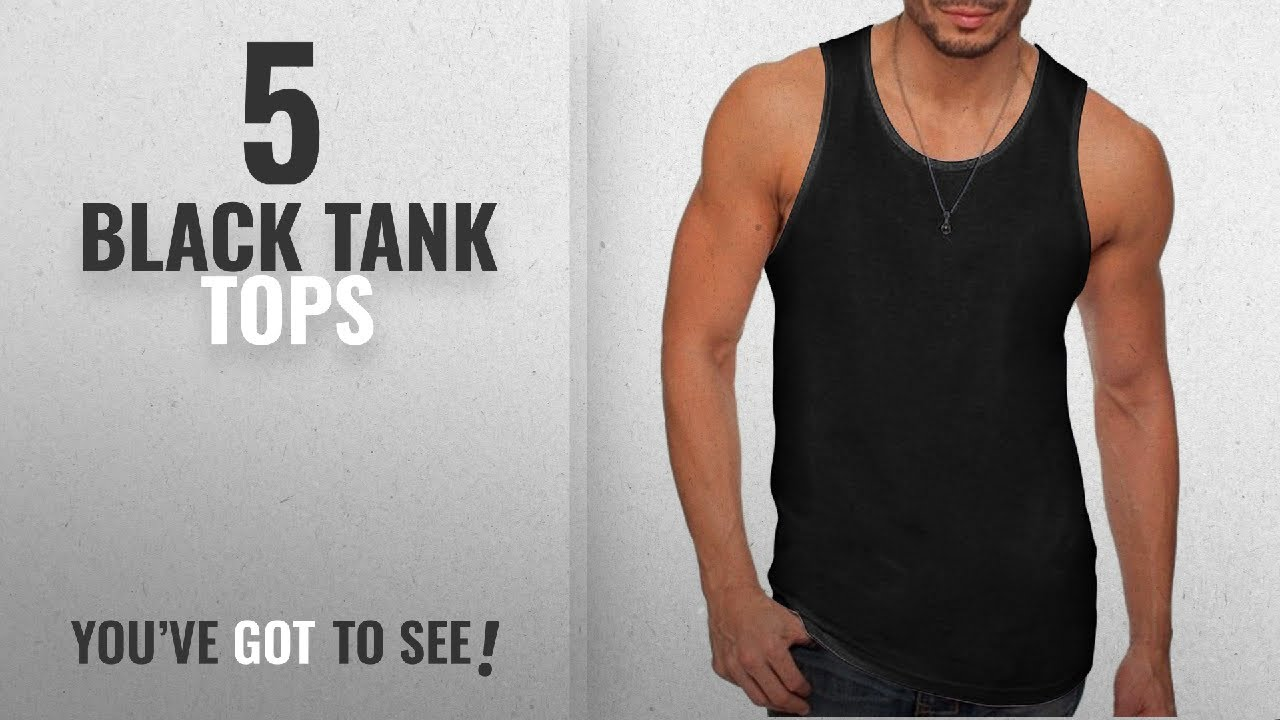 b4000d7d79dc3 Top 10 Black Tank Tops  Winter 2018    Next Level Mens Premium Jersey Tank ( 3633) -BLACK -L