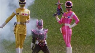 Power Ranger En El Espacio | Pink y Yellow Space Ranger vs Psycho Pink y Batalla Megazord