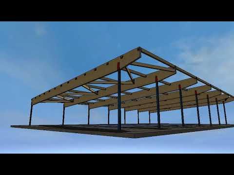 Protevi estructura de madera laminada piscina malagon for Estructura para piscina