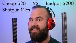XLR Shotgun Microphones: Cheap $20 vs Budget $200