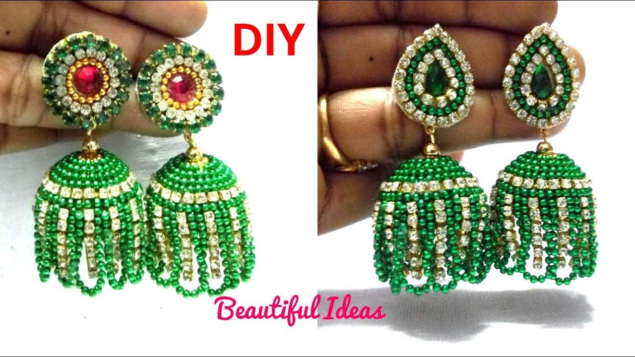 DIY//How to Make Silk thread Designer Jhumkas/Earrings//Silk ...