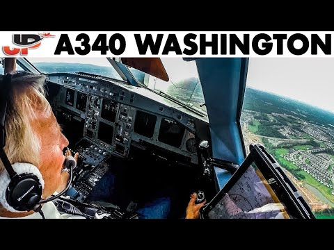 Piloting SAS AIRBUS A340 From Washington