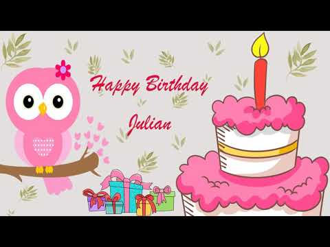 Happy Birthday Julian Image Wishes General Video Animation