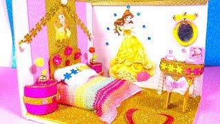 DIY Miniature Dollhouse ~ Princess Belle (Beauty and the Beast) Bedroom Decor