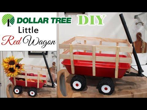 Dollar Tree DIY Little Red Wagon