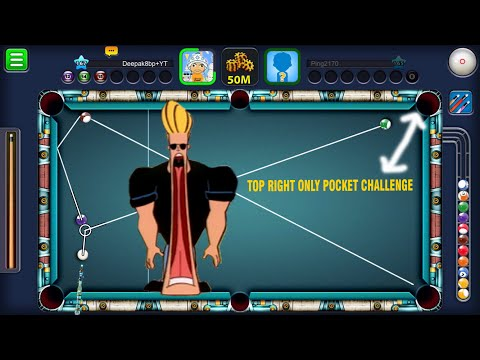 8 Ball Pool ( NO WORRIES ) TOP RIGHT ONLY POCKET CHALLENGE Berlin 50M  w/ Atlantis Cue