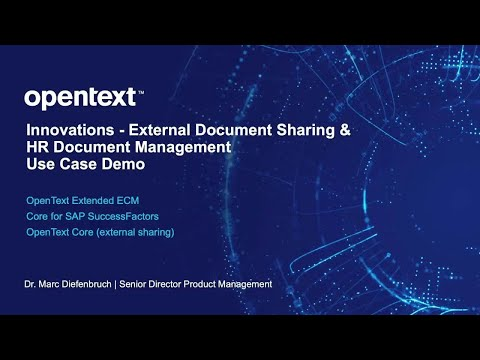 A video demo about sharing contract documents with a vendor using HR Document Management – Core for SAP SuccessFactors