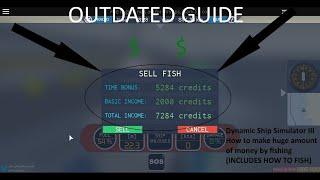 ROBLOX | Dynamic Ship Simulator III How to make large/huge amount of money by fishing