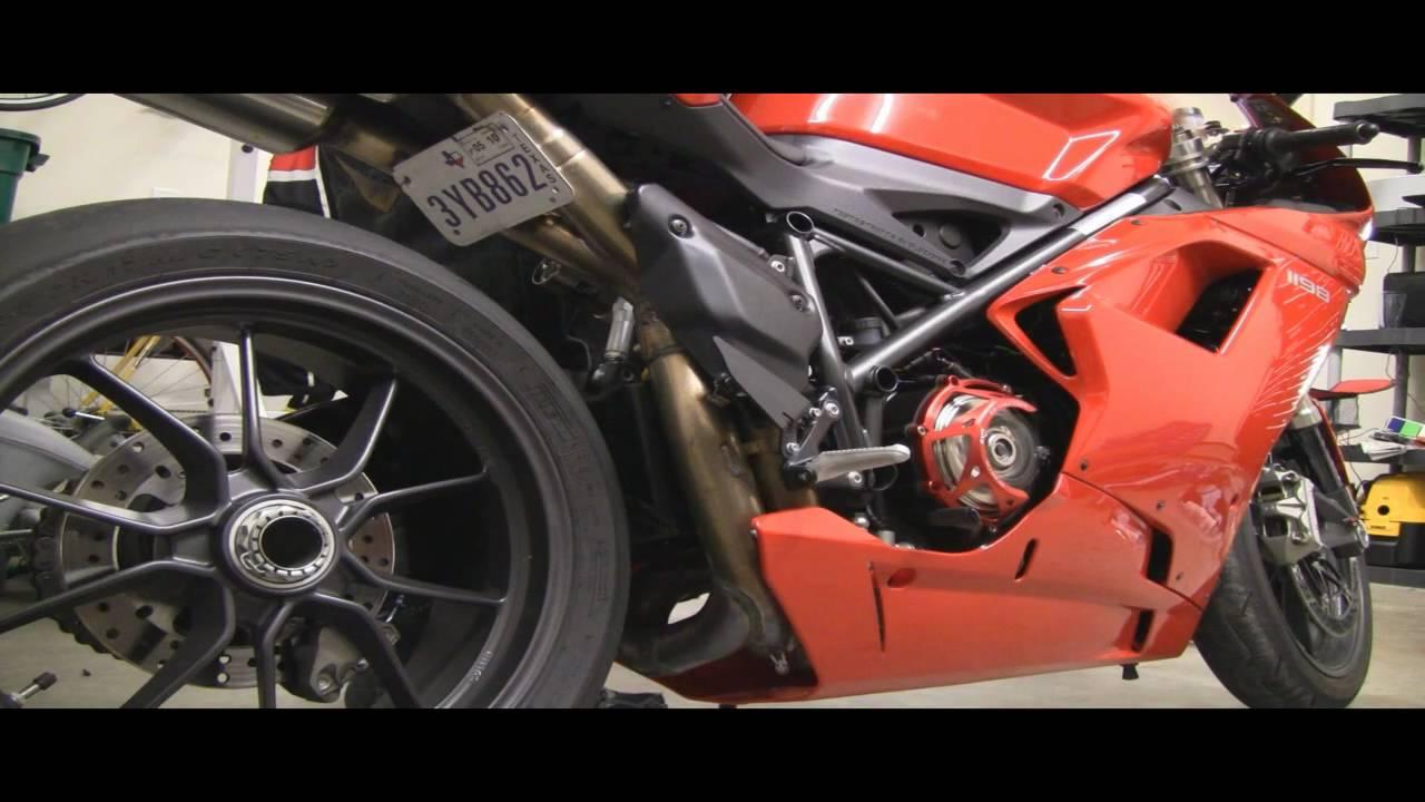 ducati 1198 open clutch cover idle - youtube