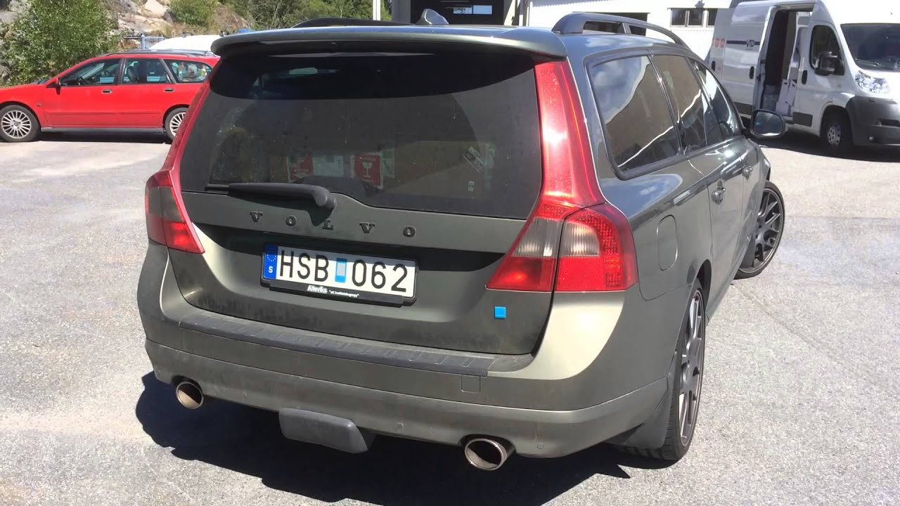 Volvo V70 T6 Polestar with custom smokers in the back :-O - YouTube