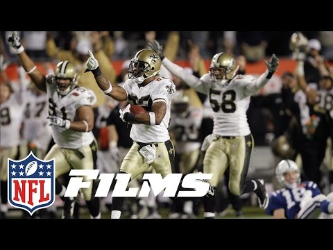 #3 Tracy Porter Picks Off Peyton Manning in Super Bowl XLIV | NFL Films | Top 10 Interceptions