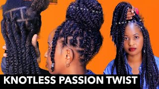 AFRICAN KNOTLESS PASSION TWIST : How To Fill in Passion Braid For BEGINNERS FRIENDLY.