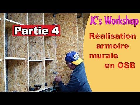 Comment faire une armoire murale avec porte en OSB - Partie 4 -  Travail du bois - #76