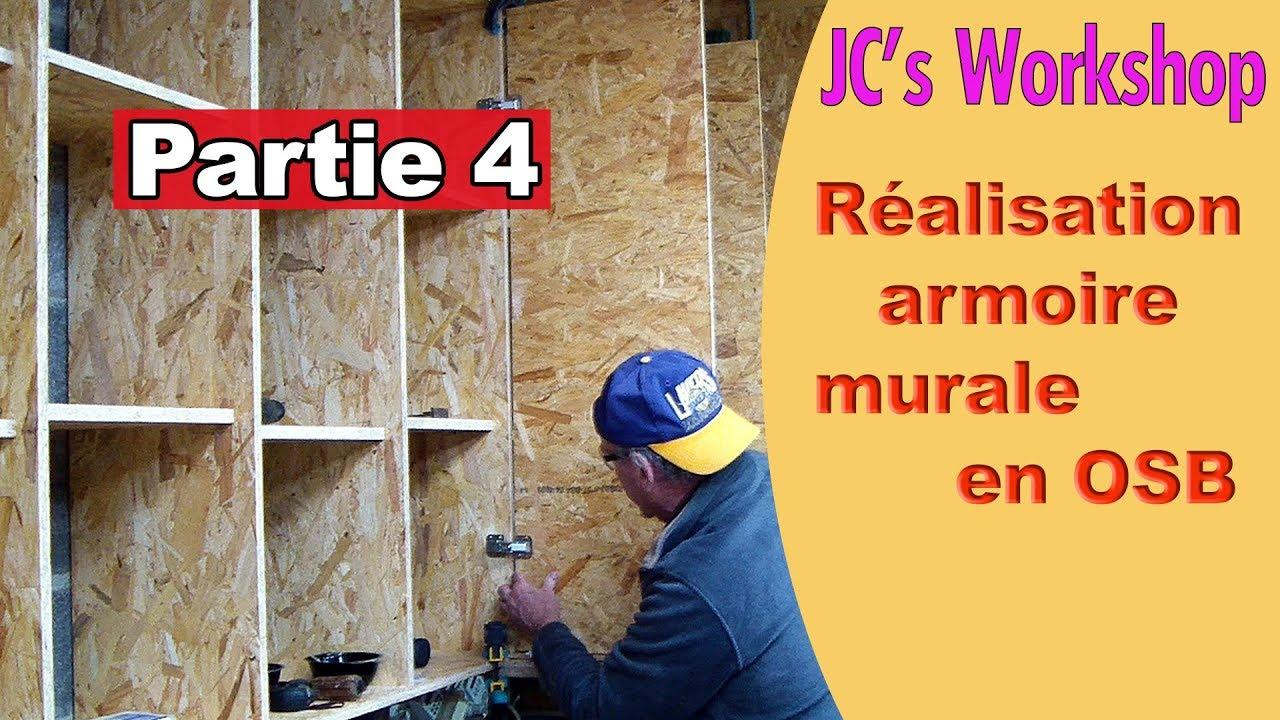 comment faire une armoire murale avec porte en osb partie 4 travail du bois 76 youtube. Black Bedroom Furniture Sets. Home Design Ideas