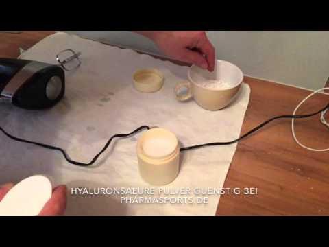Hyaluron Creme selber machen mit reinen Hyaluronsäure Pulver.