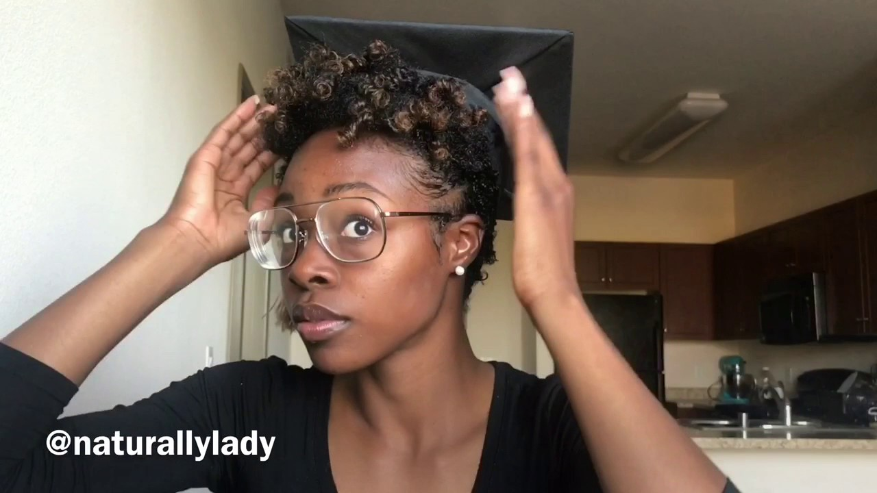 How To Wear Grad Cap W Short Natural Hair Tapered Twa Youtube